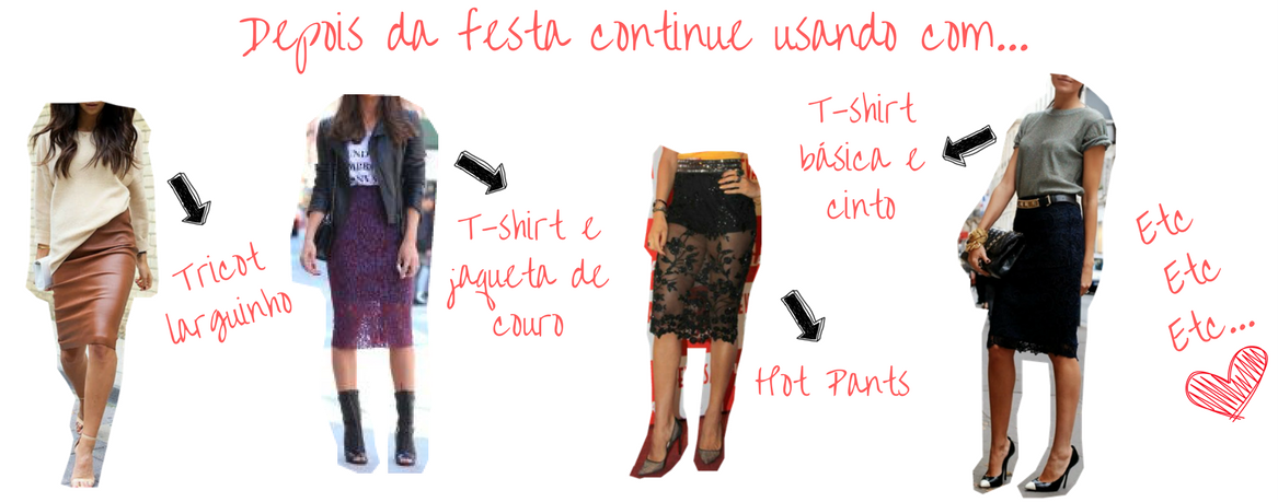 várias formas de como usar saia midi transparente