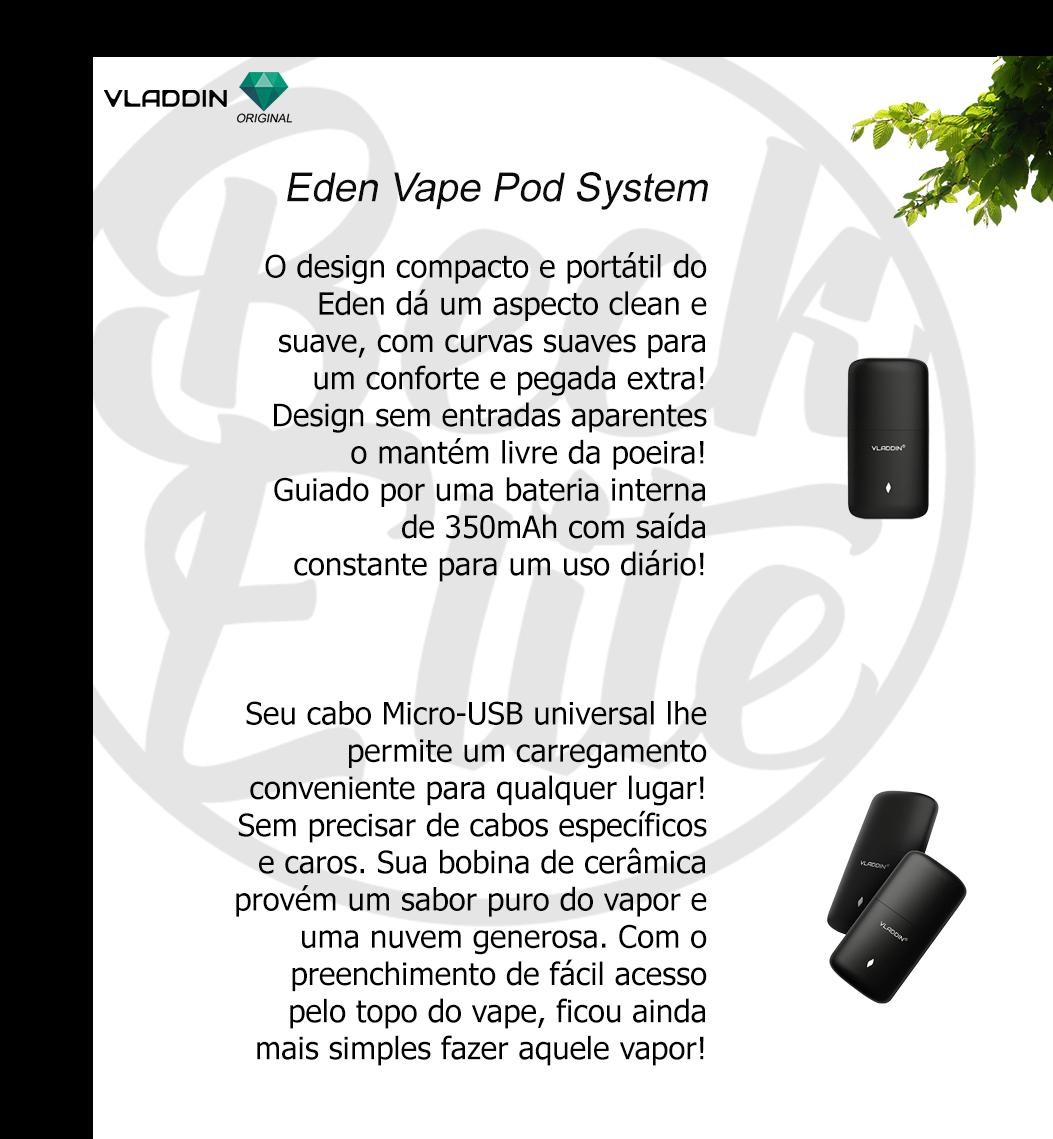 Kit Pod System Eden vape Vladdin