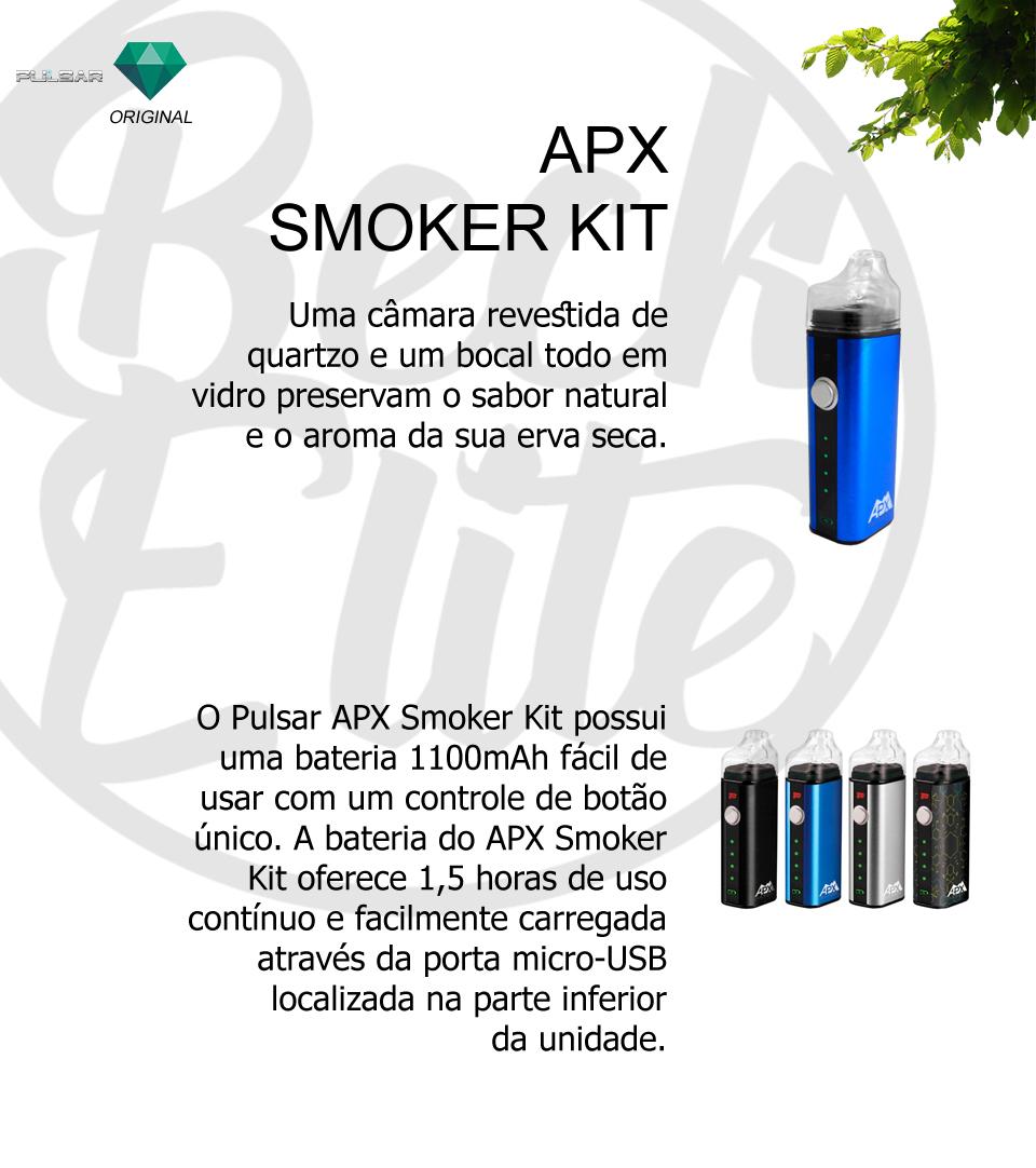 Vaporizador ervas APX Smoker Kit