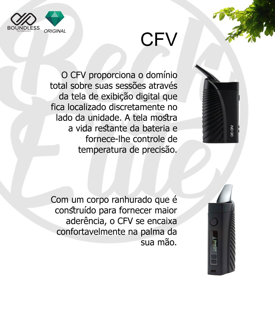 Vaporizador ervas Boundless CFV
