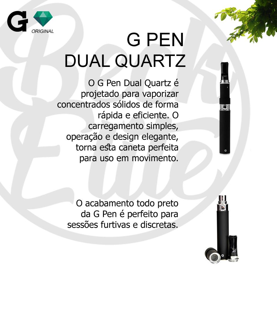 Vaporizador ceras e óleos G Pen Dual Quartz