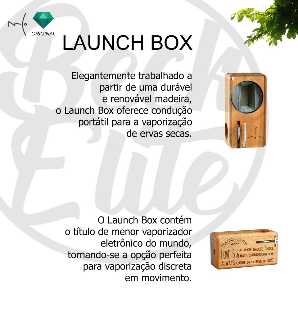 Vaporizador ervas Launch Box