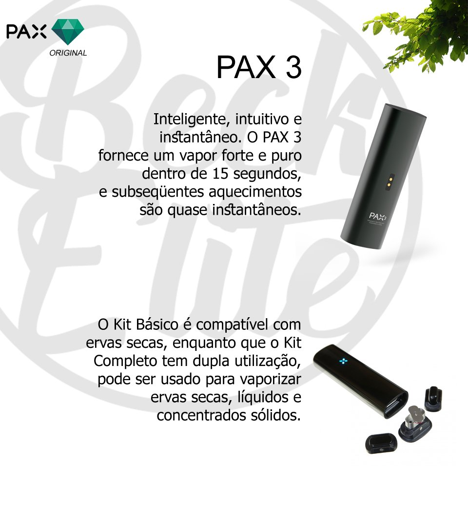 Vaporizador ervas PAX 3
