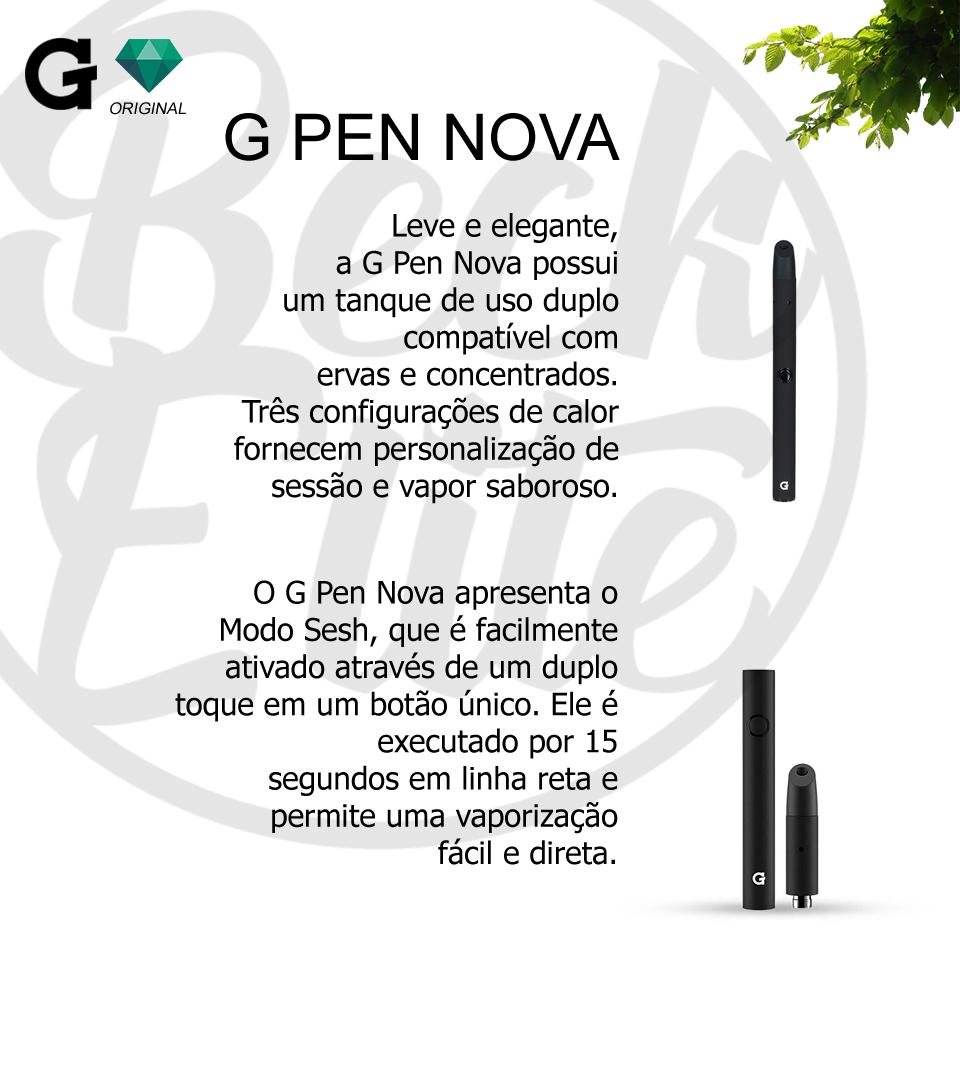 Vaporizador ervas e óleos G Pen Nova