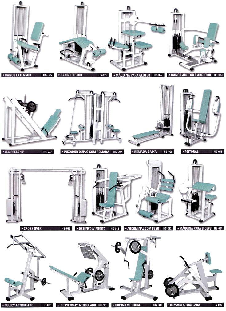 Famosos Aparelhos Profissionais - Formato Fitness - Fabricação Própria WL43