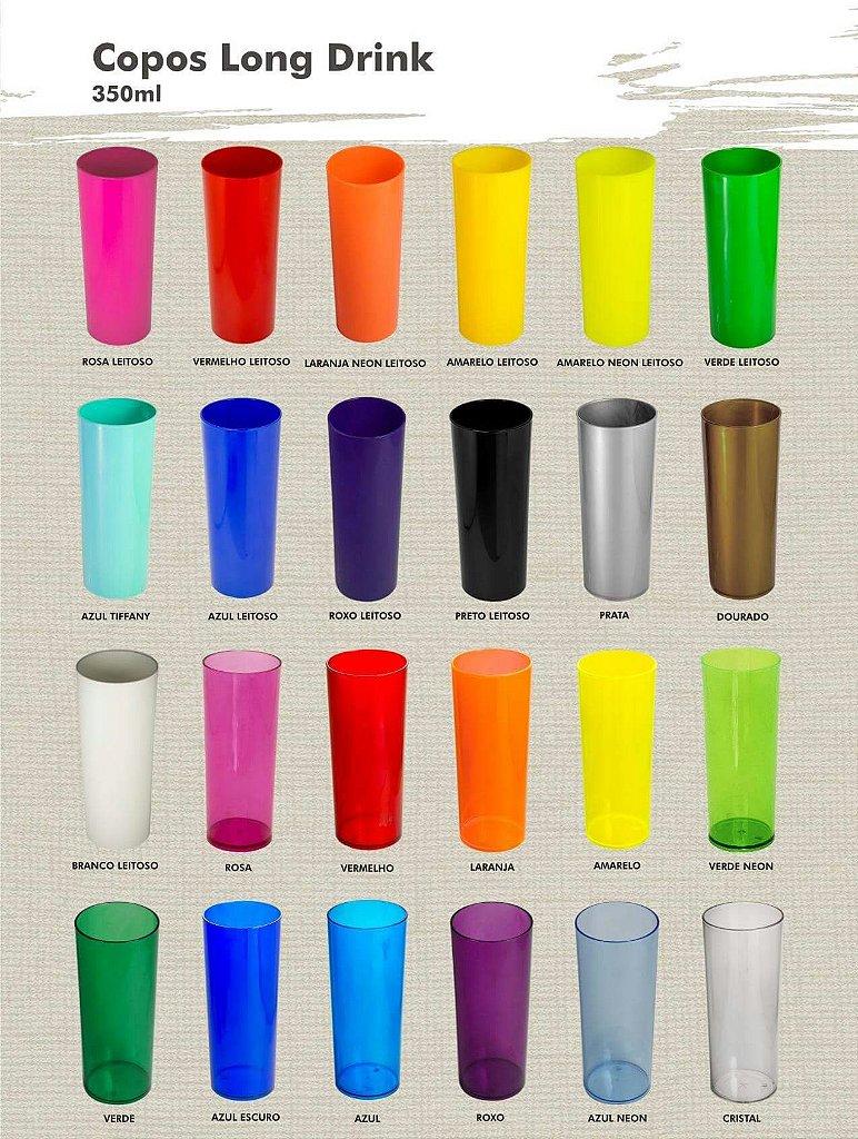 8a44aef65 ... 100 copos Long Drink 350ml Com Borda Metalizada - Arte em uma cor -  Imagem 4