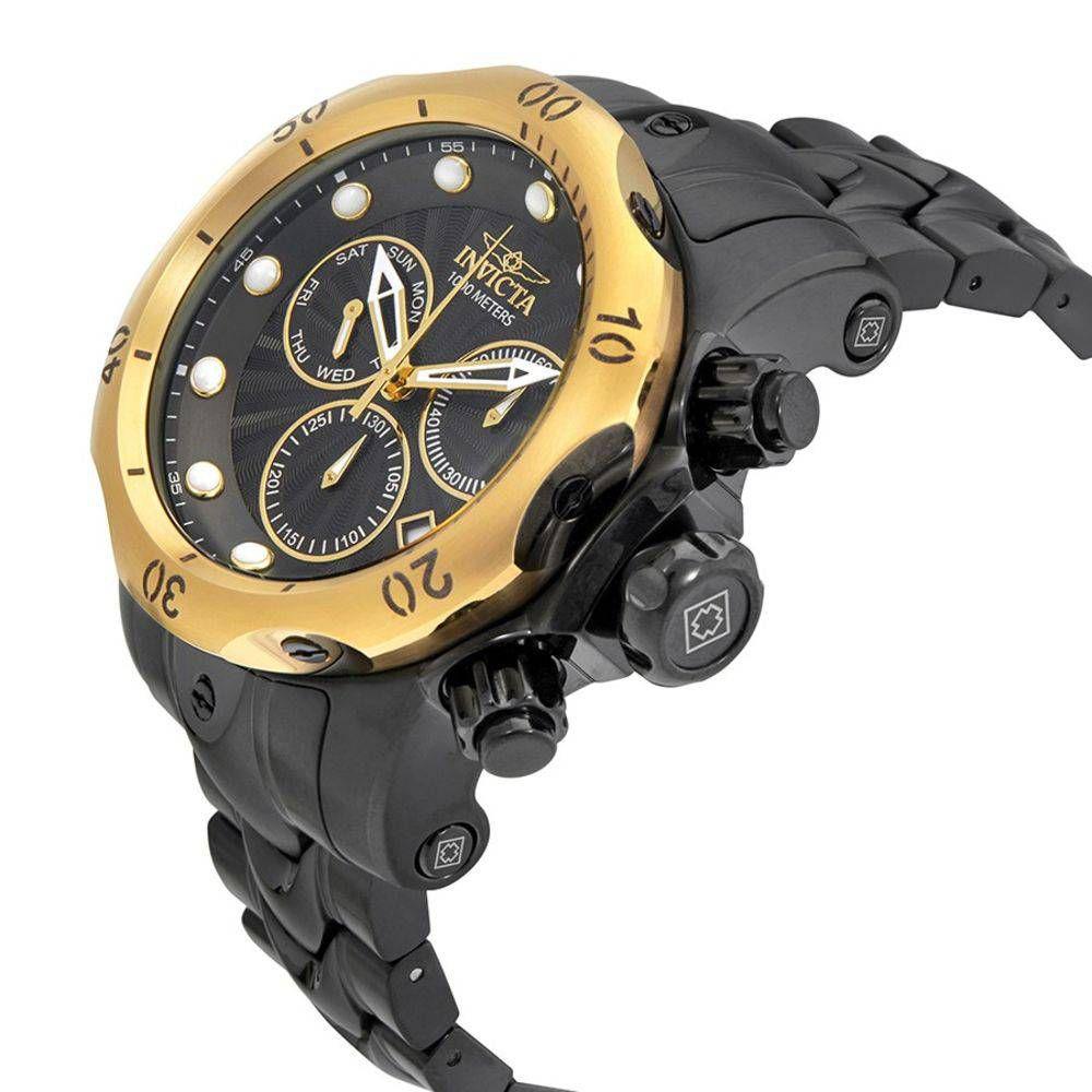 1ee34f77041 ... Relógio Invicta Venom 23895 Masculino 54 MM Dourado Com Preto - Imagem 2