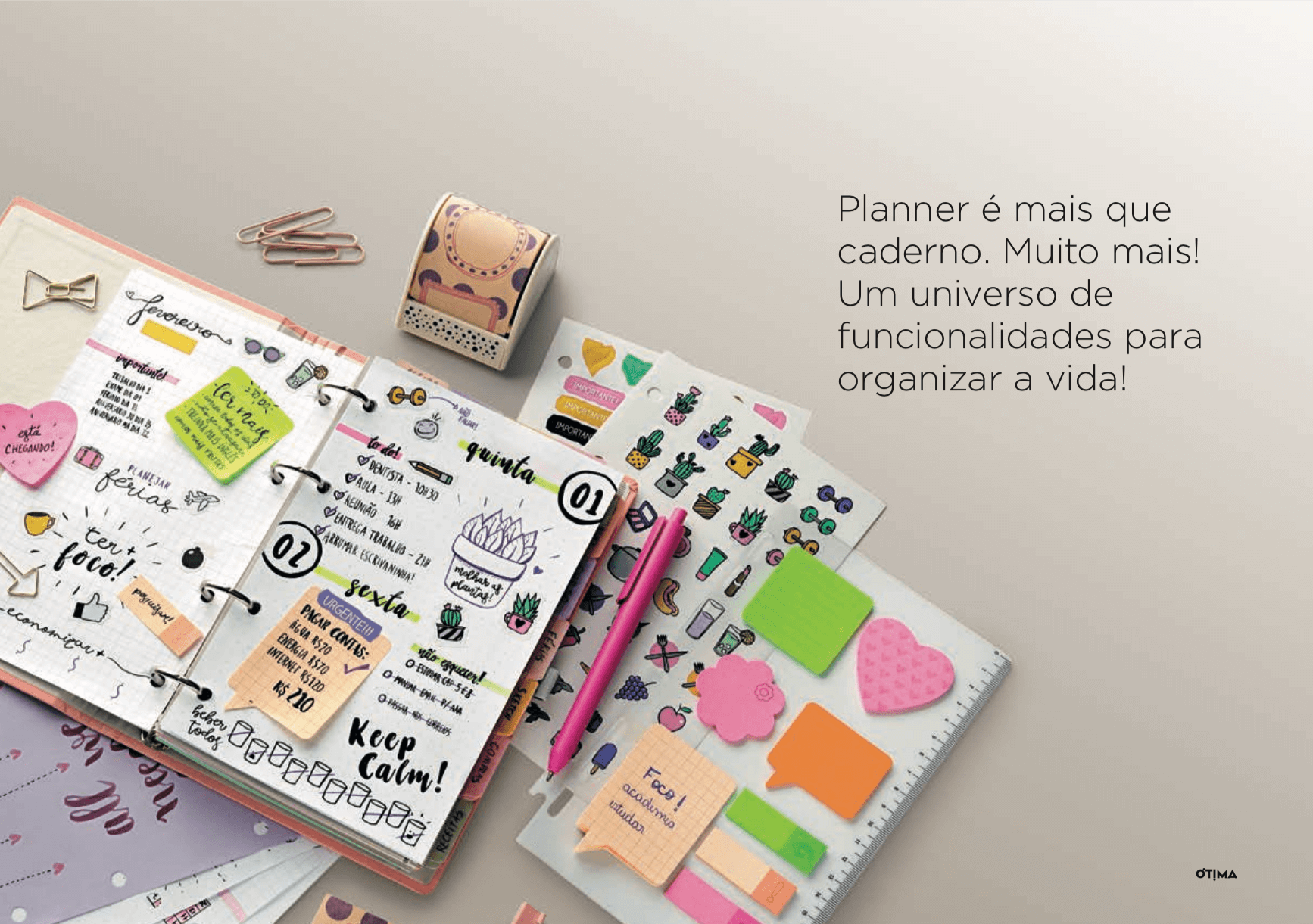 Planner Ótima Gráfica - Como Usar