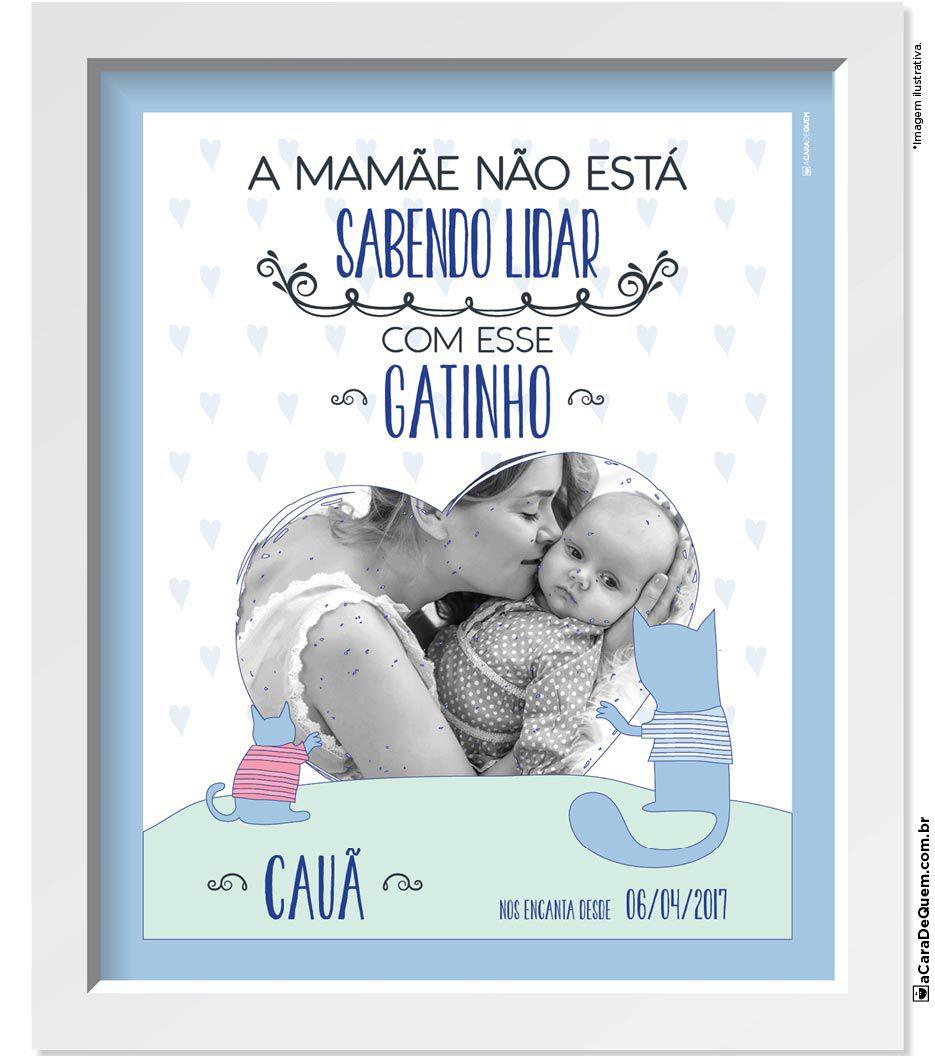 Quadro Personalizado Bebê - Esse Gatinho