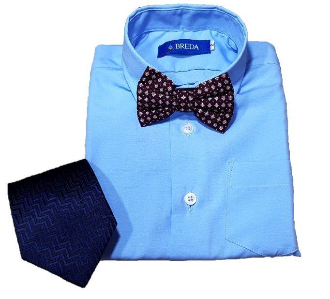 c8b15563c ... Camisa Social infantil menino com manga longa Azul clara - Imagem 3 ...