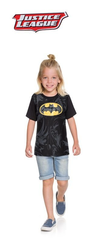 Camiseta liga da justiça manga curta Batman - Boyhood Roupas e ... 74f6f6921b69a