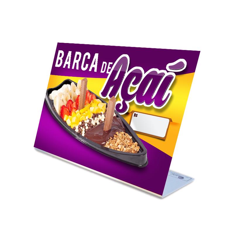 Display de Balcão para promover a venda de Barca de Açaí