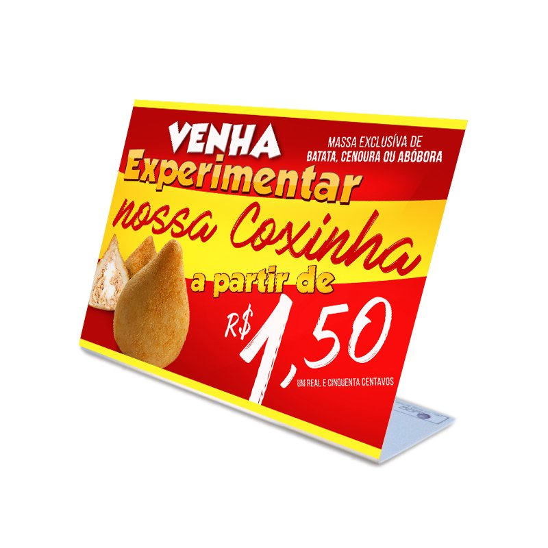 Display de Balcão para venda de Coxinha