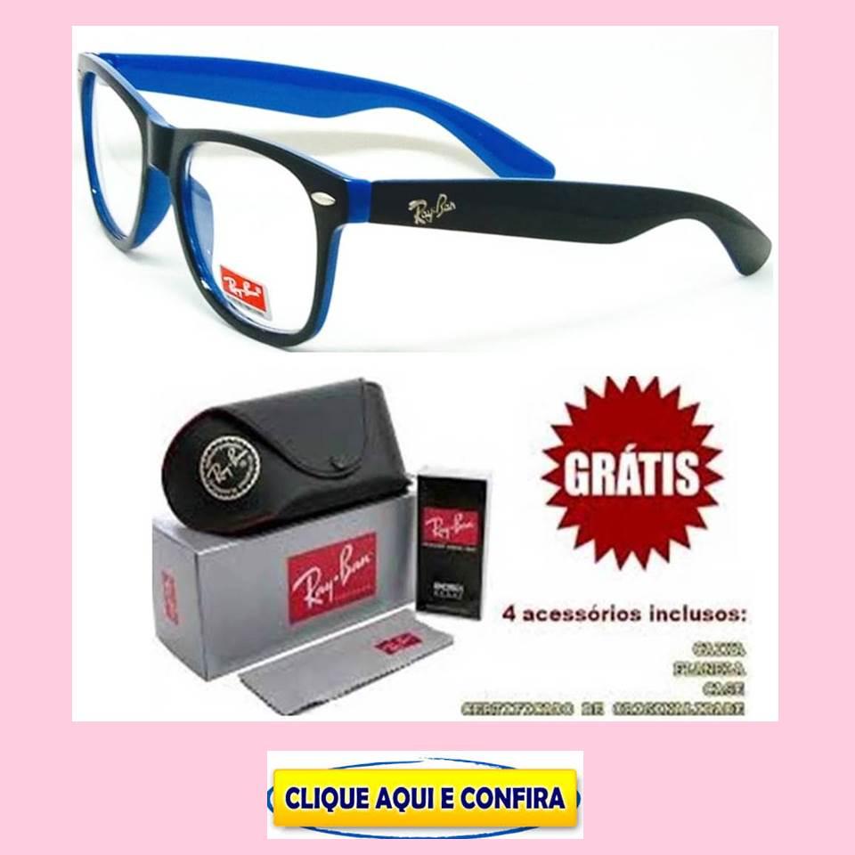 7896a80fe Replicas de Armação Para Óculos de Grau Ray Ban primeira linha, modelo  Justin, Aviador