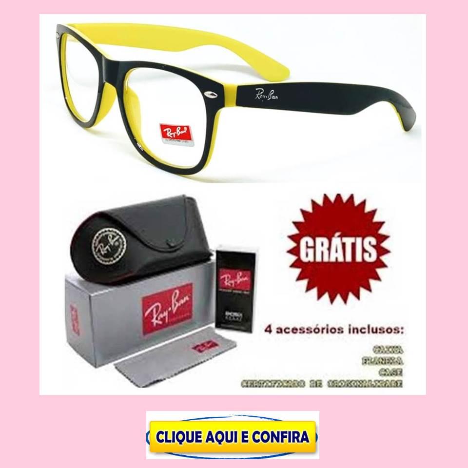f25a001897a74 Replicas de Armação Para Óculos de Grau Ray Ban primeira linha, modelo  Justin, Aviador
