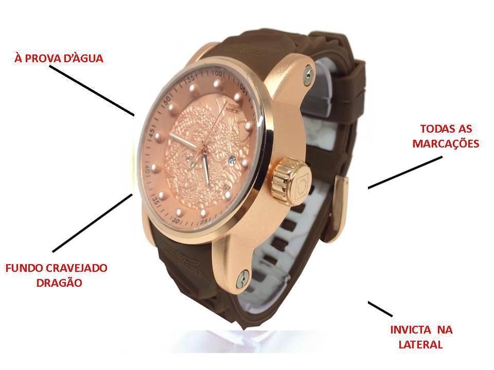 Relógio Invicta Yakuza Marrom