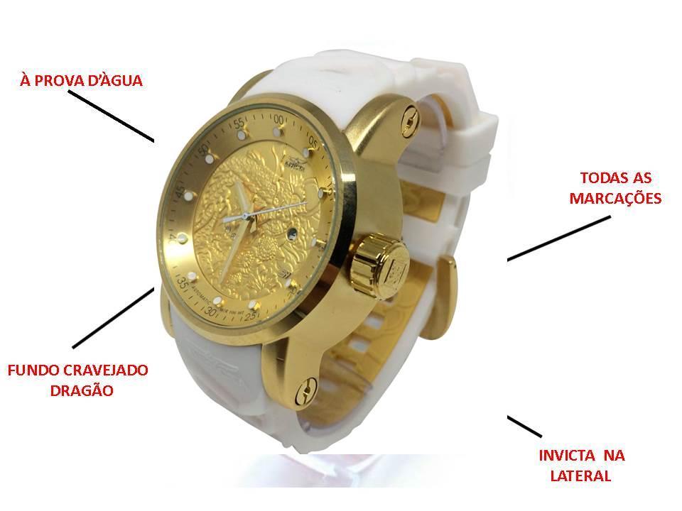 Relógios Invicta Yakuza Branco