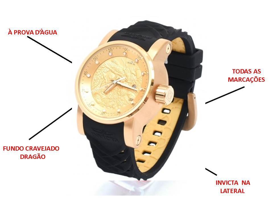Relógios Invicta Yakuza Preto