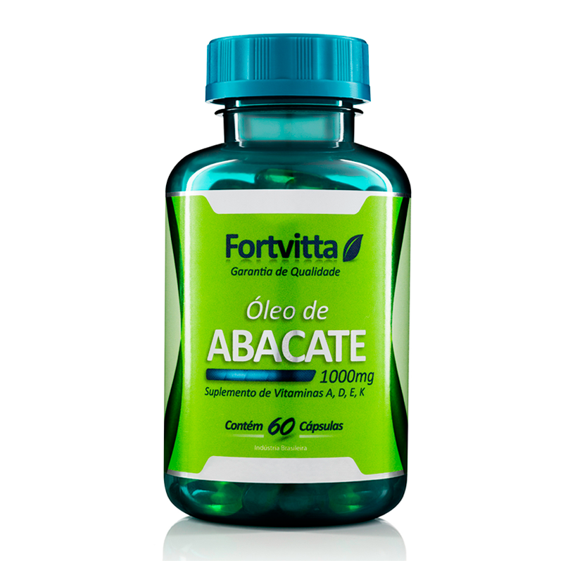 1 Óleo De Abacate 60 Cápsulas De 1000mg Fortvitta