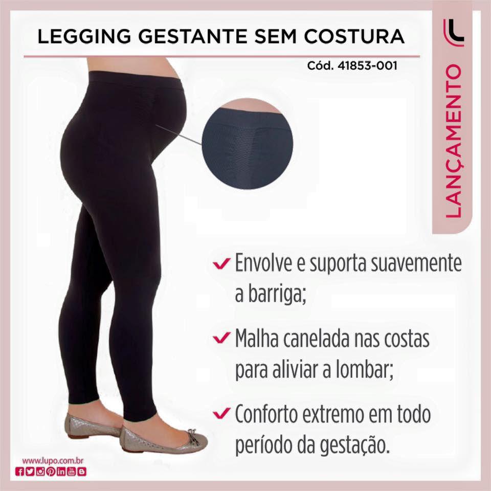 bd5f5cdbb ... Calça Gestante Legging Sem Costura Loba Lupo - Imagem 2