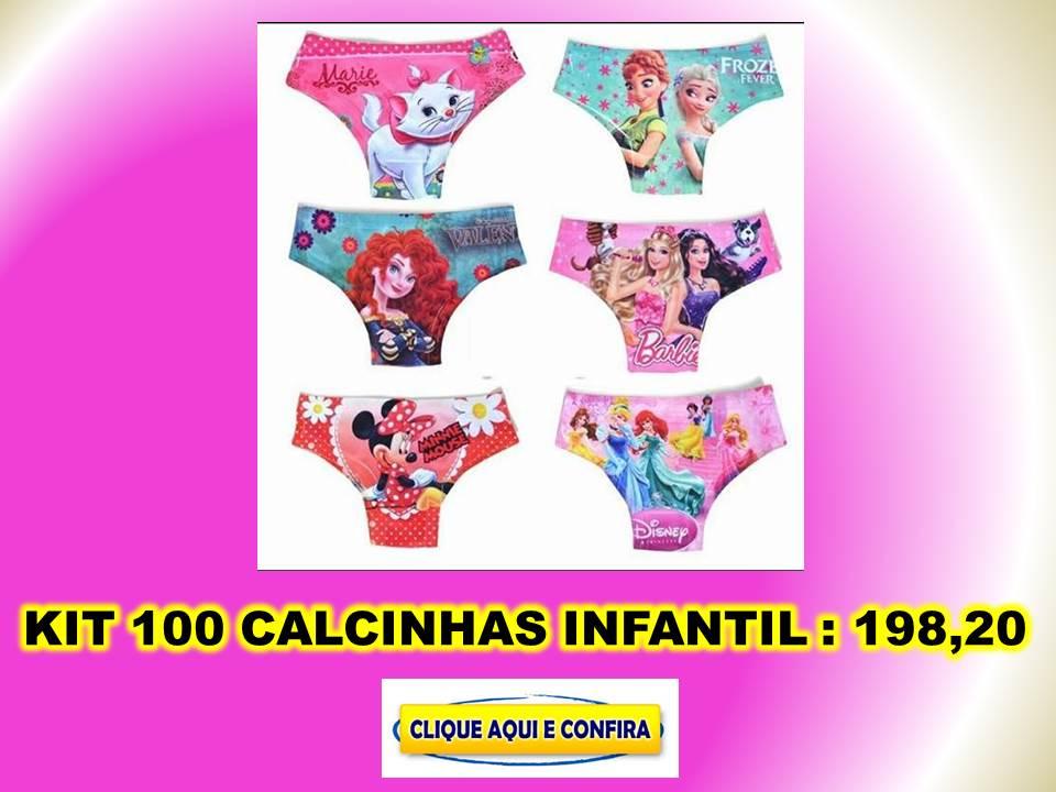 1b3208a37 Lote calcinhas infantil personalizadas com personagens de meninas e  crianças baratas direto da fabrica no atacado