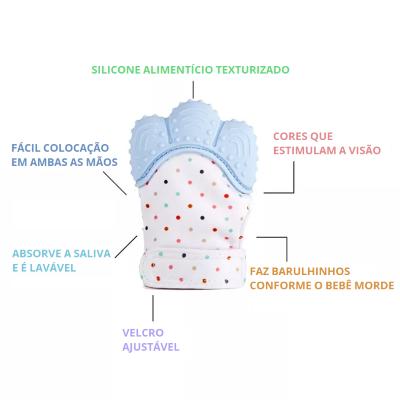 Luva Mordedor de Silicone para Bebê
