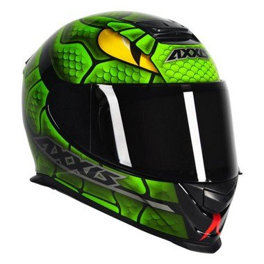 Capacete Axxis Eagle Snake - Preto Verde