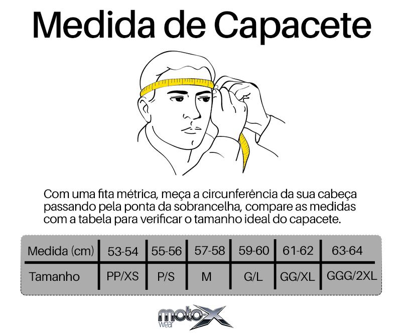 Medida de capacete Moto-x Wear