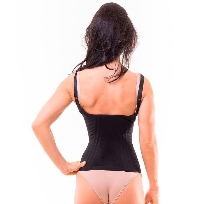 47982904e Cinta modeladora feminina com alça - Preto - Cinta modeladora ...