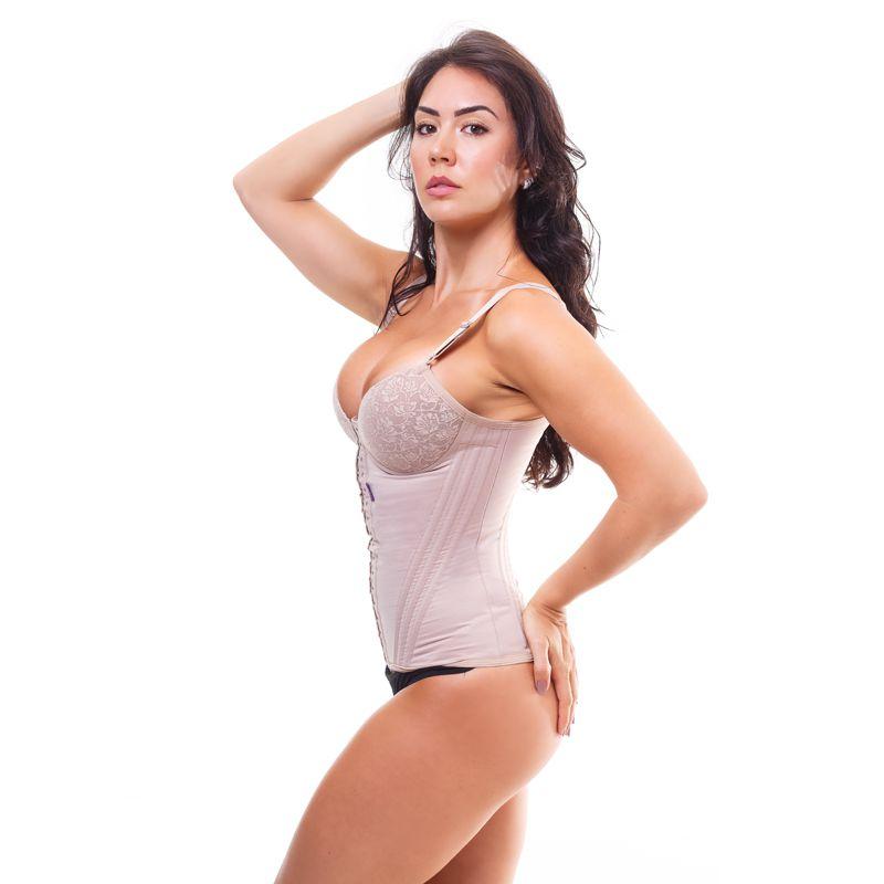 5e52662d7 Cinta modeladora feminina bojo com renda - Bege - Cinta modeladora ...