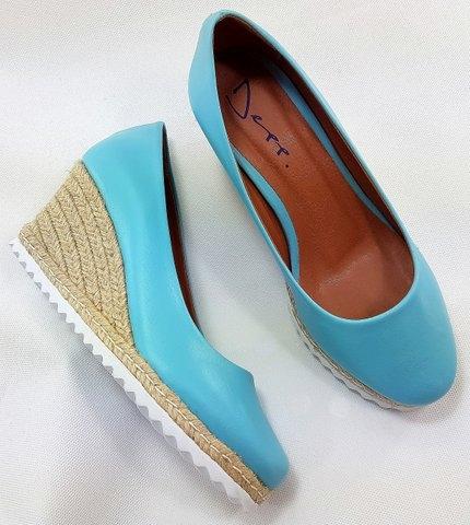 b339f69c6e Anabela Candy Collor Sapato Feminino Salto Forrado Com Corda Depp Calçados.