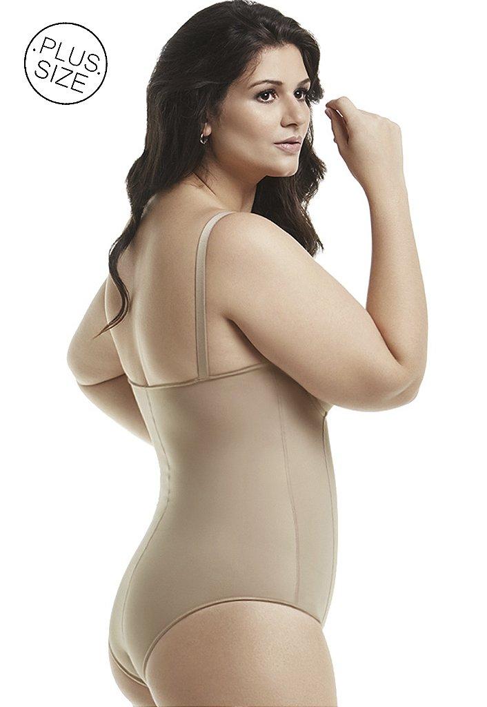 288fe4eb0 ... Cinta Modeladora com Bojo e Zíper Plus-Size Mondress - Imagem 2 ...