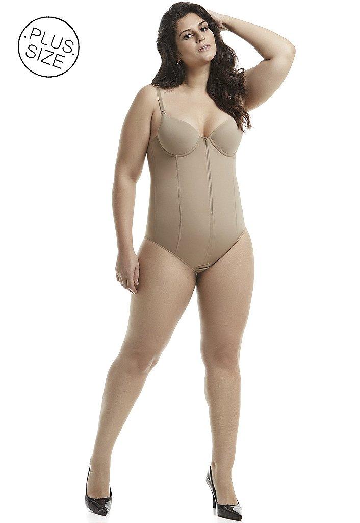 4b531deaf ... Cinta Modeladora com Bojo e Zíper Plus-Size Mondress - Imagem 4