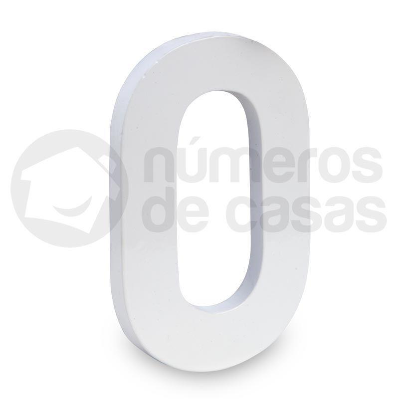 N mero 0 de aluminio moderno branco 18x1cm n meros de for Numero deputati alla camera