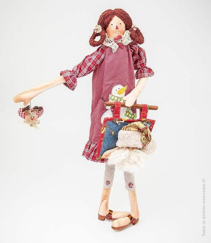 Belinda, boneca de pano