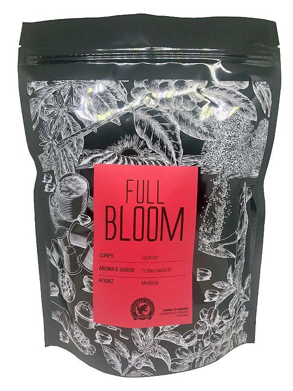 FULL BLOOM - Corpo licoroso, aroma e sabor de frutas maduras e acidez mediana. Embalagem com 50 cápsulas compatíveis às máquinas Nespresso.