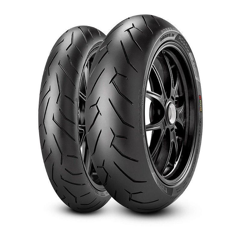 Pneu Pirelli Diablo Rosso ll 100/80R17 e 130/70R17 (Par)