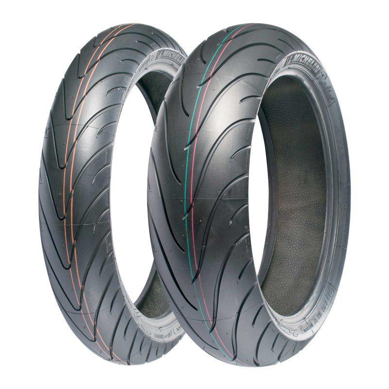 Pneu Michelin Pilot Road 2 120/70R17 e 180/55R17 - (Par)