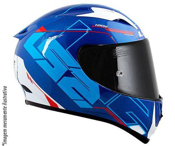Capacete LS2 FF323 Arrow Techno - Azul/Bco/Vermelho