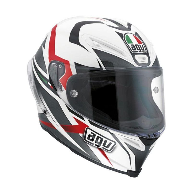 Capacete AGV Corsa Velocity Branco, preto e vermelho