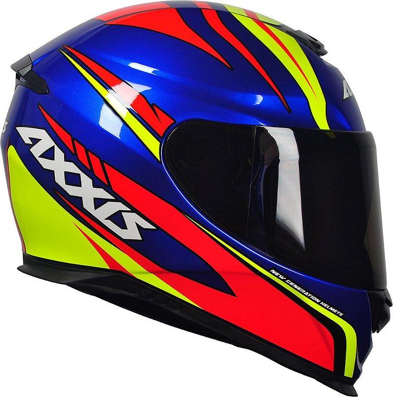Capacete Axxis Eagle Hybrid Gloss Race - Azul