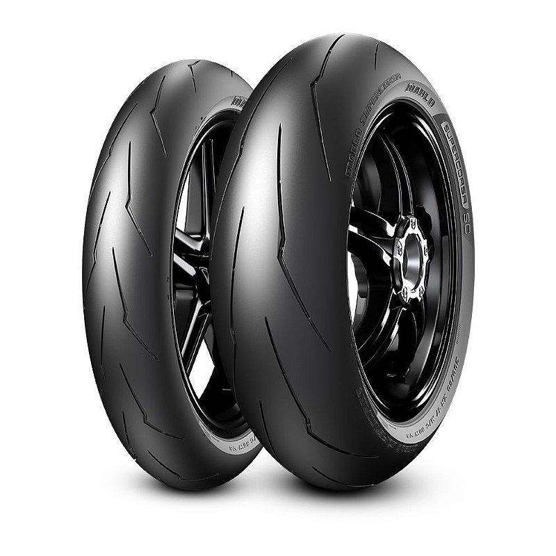 Pneu Pirelli Supercorsa Sc 120/70R17 e 160/60R17 ( Uso Apenas Circuito Fechado ) Par