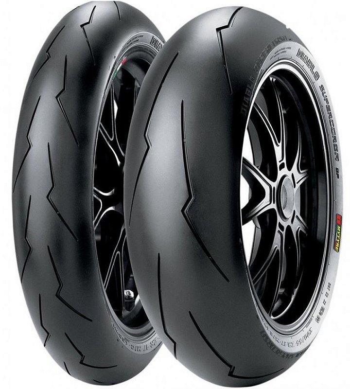 Pneu Pirelli Supercorsa SP V3 120/70R17 e SP V3 180/55R17 -Par ( Para Uso Rodovia e Track Day )