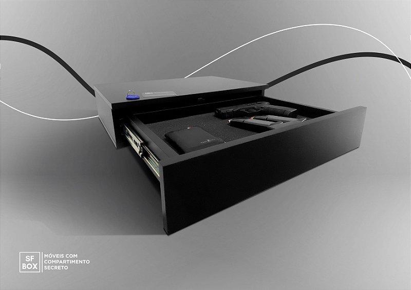 Compartimento Secreto para Guarda Roupa em MDF Preto SFBOX