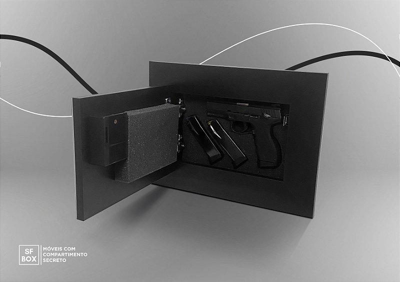 Porta Retrato com Compartimento Secreto e Sistema de Abertura Eletrônico Preto