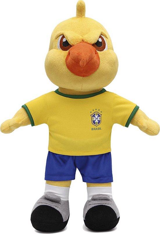 Mascote Canarinho Pelúcia Copa América 2019
