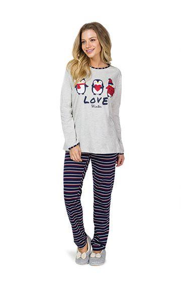 ae9d4408f8acf9 ref: 9349 - Pijama algodão pinguim