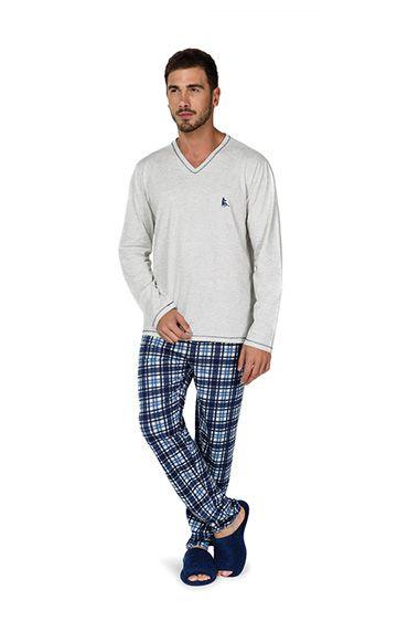 89209cff4da01d ref: 9433 - Pijama mescla algodão xadrez