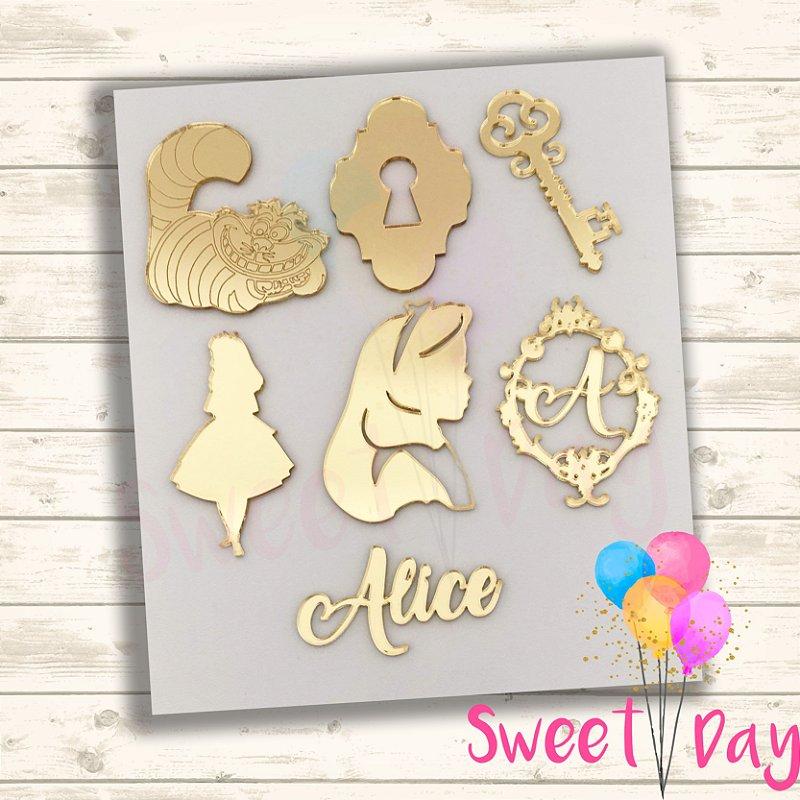 Apliques kit Alice (40 peças)