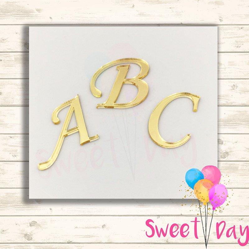 Aplique letras ( 10 peças) 5 cm